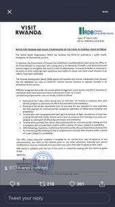 Travel Advisory Rwanda