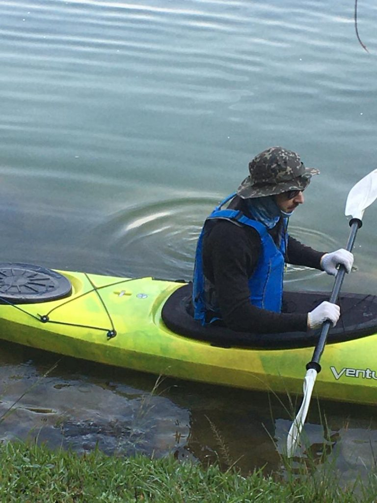 Kayaking on Lake Kivu